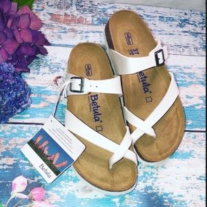 BIRKENSTOCK Mia Slide Sandals WHITE SIZE 37 NEW